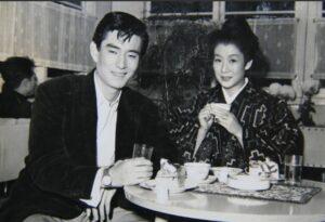 『電光空手打ち』(昭和31年)の撮影の合間のスナップ