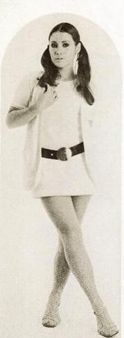 モデル時代の宣材写真=昭和46年