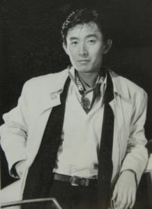 1989年、ドラマ撮影中の石田さん