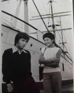 森田健作さんと松坂慶子さん