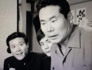 「渥美清の泣いてたまるか」より。(左から)西田敏行 秋野太作さん、渥美清さん。